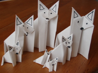 Origami Wolf Pack 002