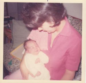 writer mom with baby Ann Kroeker